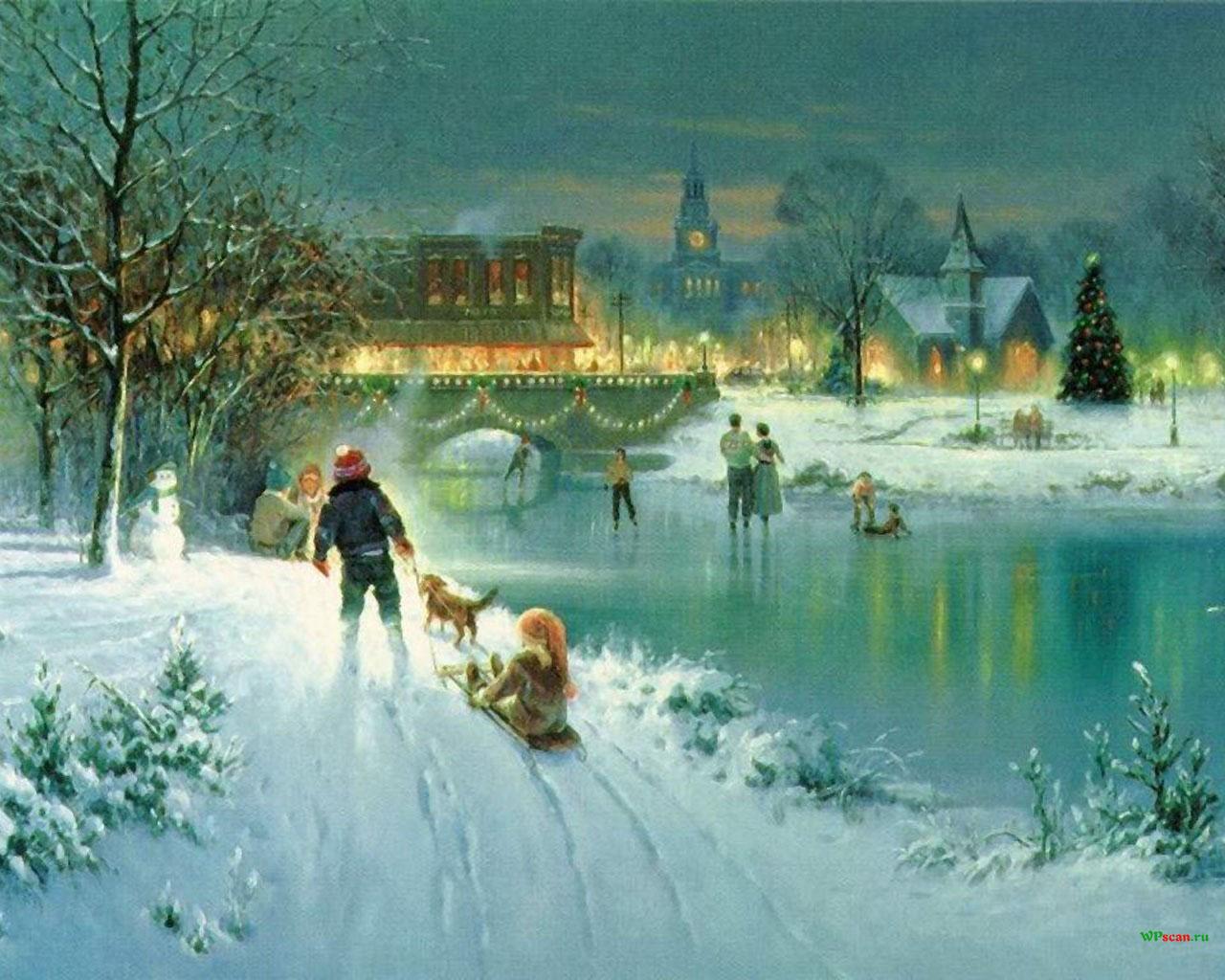 Картинки коньки зимой